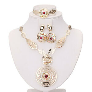 Sales Cheap Red Plated Costume Fashion Women Necklace Earring Ring Jewellery Set - Basildon, United Kingdom - Sales Cheap Red Plated Costume Fashion Women Necklace Earring Ring Jewellery Set - Basildon, United Kingdom