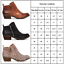 Womens Casual Ankle Boots Chelsea Low Block Heel Chunky Flat Booties Shoes Size