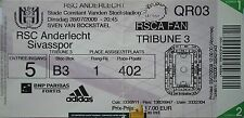 TICKET UEFA CL 2009/10 RSC Anderlecht - Sivasspor