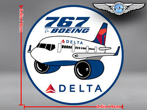 DELTA AIR LINES ROUND PUDGY BOEING B767 DECAL / STICKER