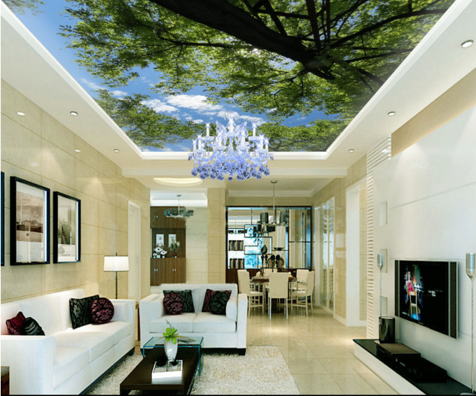 3D Forest Tree 453 Ceiling WallPaper Murals Wall Print Decal AJ WALLPAPER US