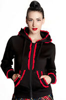 Hell Bunny Black And Red Gothic Bear Hoodie X-small Small Large X-large