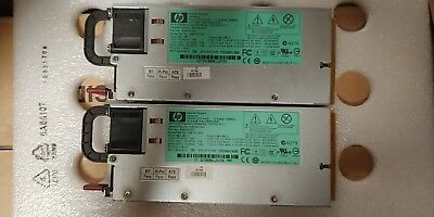 A lot of 2 HP 498152-001 1200W Server Power Supply HSTNS-PL11 P//N 490594-001