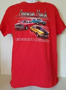 New w/Tag American Muscle Cars Ford Chevy Dodge Size M T-Shirt Cotton