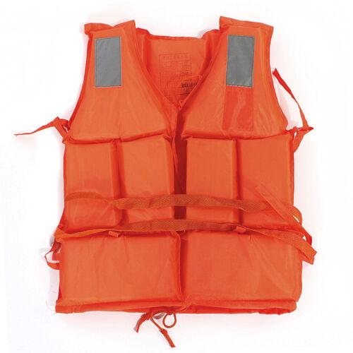 Adult Swimming Drift Rafting Lift Vest Jacket flotation Device+Whistle Orange UK