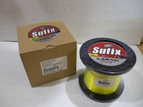 Sufix Elite Monofilament fishing line 12 lb test 3000 yards Yellow color NIB