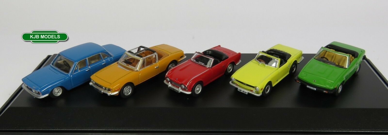BNIB OO GAUGE OXFORD DIECAST 1 76 76SET53 5 PIECE TRIUMPH CAR SET