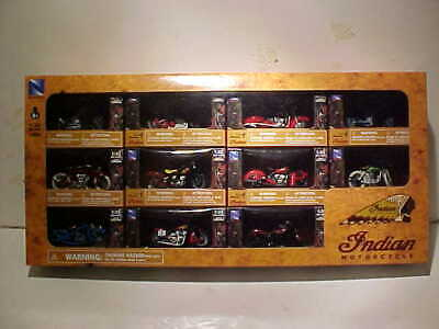 """11 pieces of /""""Indian Motorcycle/"""" Diecast Motorcycle Models 1:32 New Ray 2.5 inch"""