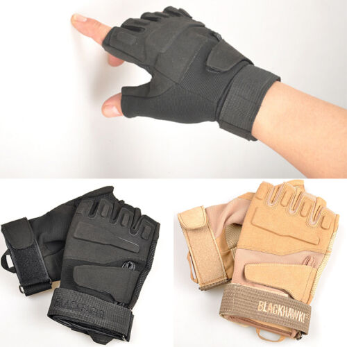 Outdoor Half Finger Gloves Military Tactical Airsoft Hunting Riding Cycling cd