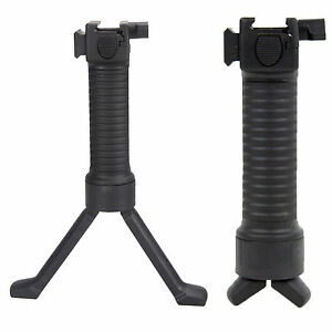 Premium Tactical Bipod Grip Vertical Foregrip Rifle Rail Picatinny Weaver Black