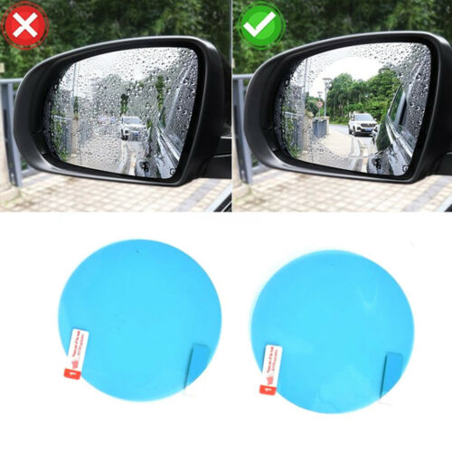 2x PET Car Motorcycle Rearview Mirror Film Sticker Excellent Round Shape Nice