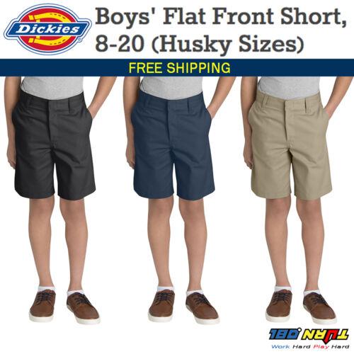 DICKIES Boys/' Flat Classic fit Front Short Husky Size 8-20 School Uniform 54062