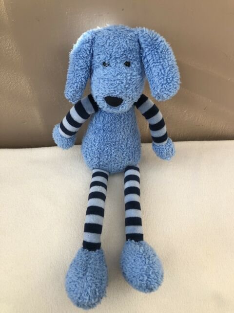 Jellycat Tiglet Puppy Dog Soother Comforter Doudou Blue Striped Baby Soft Toy