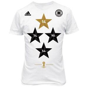 Details zu adidas DFB Deutschland T Shirt Kinder Weltmeister WM 2014 in Brasilien 4 Sterne