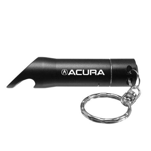 Acura Black LED Flashlight Bottle Opener Key Chain Officially Licensed