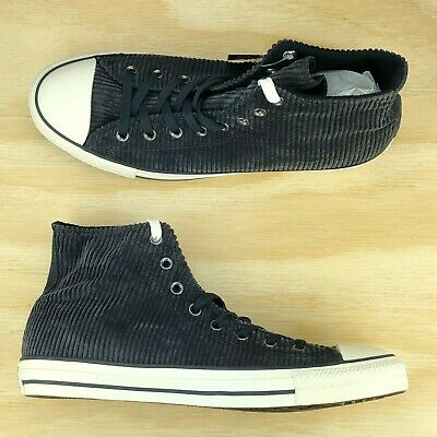 Converse Chuck Taylor All Star Modern Hi Top Black Suede Shoes 158842C Size 9