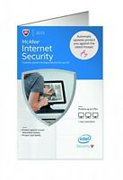 Mcafee Internet Security 2015 3 Pcs, New, Free Shipping