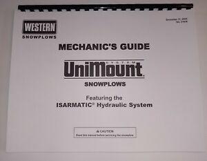 Details about Western UniMount Snow Plow Mechanic's Guide ** Repair on
