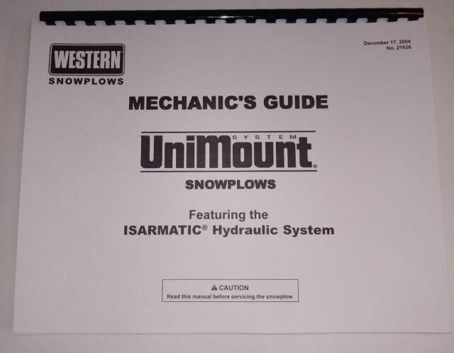 Western Unimount Operators Manual Parts List Owners Brochure Promo on