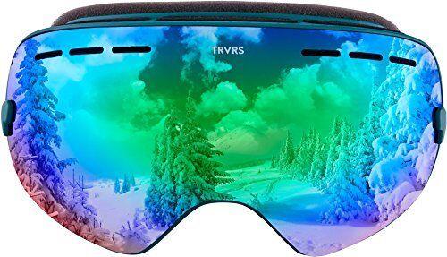 Traverse Virgata Ski, Snowboard, and Snowmobile  Goggles, Emerald with Jade REVO  best quality best price