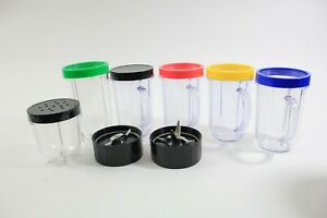 Magic-Bullet-accessories-ONLY-cups-lids-blades