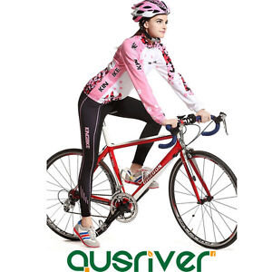 Women-Bike-Bicycle-Cycling-Long-Sleeve-Anti-UV-Clothes-Jersey-Pants-Padded-Suit