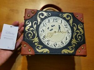 Loungefly Disney Peter Pan Clock Crossbody Trunk Purse NWT