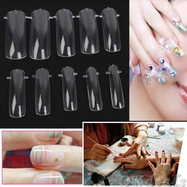 100 PCS New Dual Nail ART System Form UV GEL Acrylic False Tips Salon Tools Set