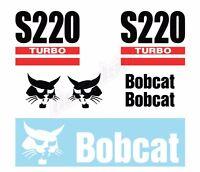 Bobcat S220 Turbo Skid Steer Set Vinyl Decal Sticker - Aftermarket