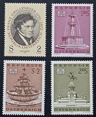Brave Austria Stamp Yvert And N Tellier°1210 à 1213 N Stamp Austria cyn5