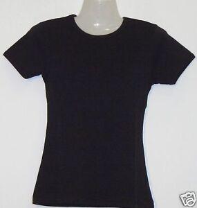 Girlie-T-Shirt-Uni-schwarz-S-XXL