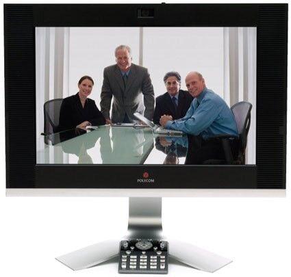 Videokonference , Skærm med HD-kamera, Polycom HDX4000