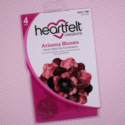 Lot Set Heartfelt Creations Arianna Blooms Die+Stamp+3D Floral Basics Mold ~ NIP