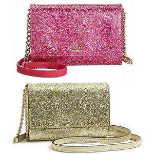 NWT-Kate-Spade-New-York-Glitter-Bug-Cami-Small-Adustable-Crossbody-Clutch-Bag