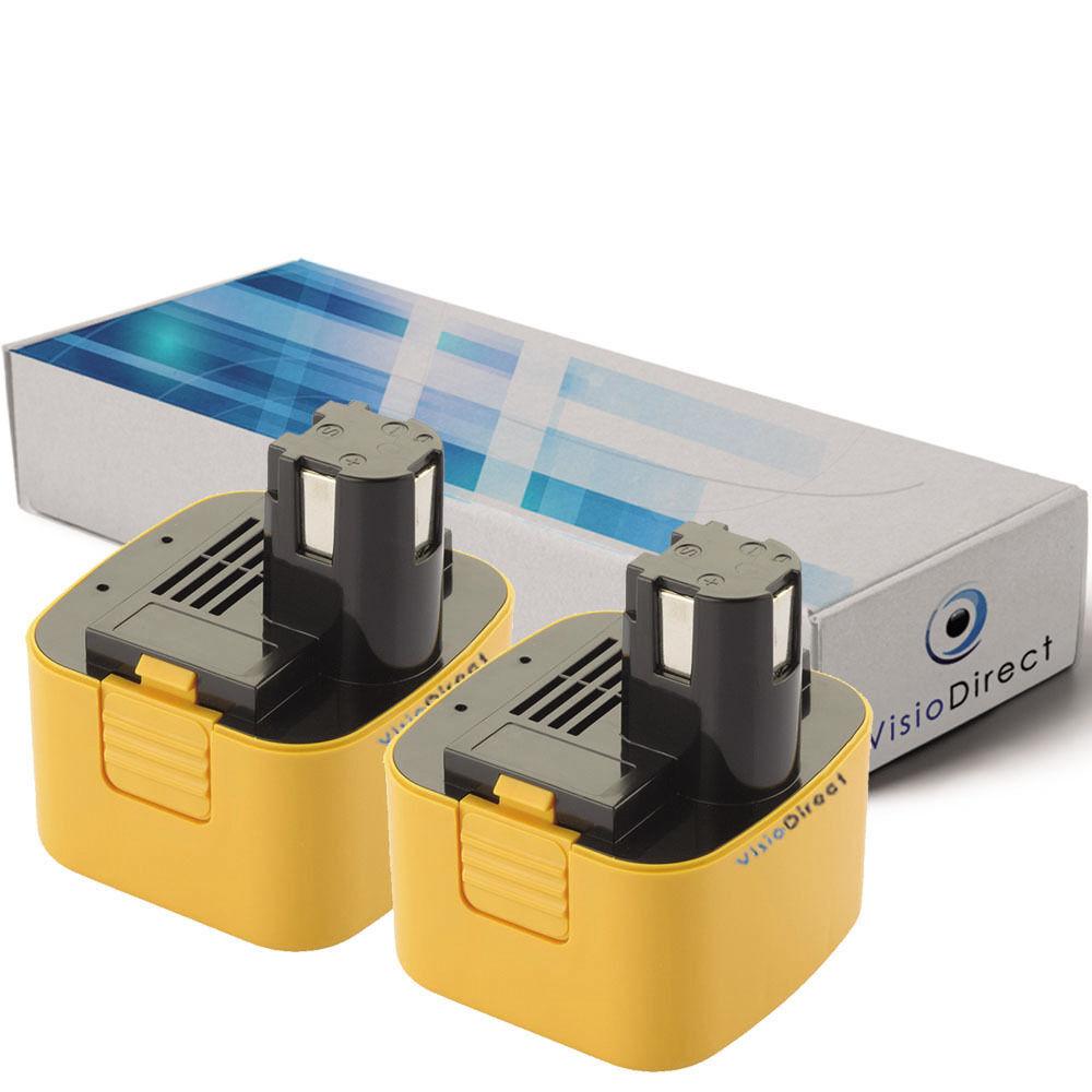 Lot de 2 batteries 12V 3300mAh pour Panasonic EY9168 - Société Française -