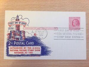 USA 16th Nov 1951 Primer Día Tarjeta Postal Postal 71st Regt. armería