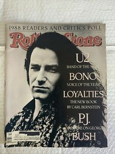 Rolling Stone issue 547 March 9, 1989 featuring U2 BONO