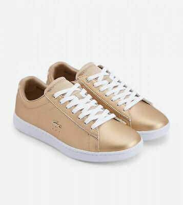 Lacoste Carnaby Evo 118 1 Damen Gold White Leder Sneaker Mode