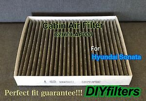 Carbonized cabin air filter for new hyundai sonata 2015 for 2015 hyundai sonata cabin filter location