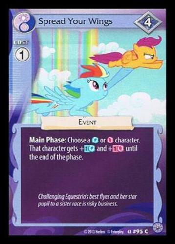 3x Spread Your Wings 95 My Little Pony Premiere Edition MLP CCG