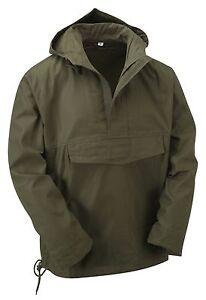Jacket Smock Anorak Hooded Windbreaker Style Army Military Winter Top Coat Olive Rq0xwa8gtO