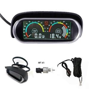 Oil-Pressure-MP-Gauge-Voltmeter-9-36v-LED-Display-Car-Truck-Universal-M14-x1-5