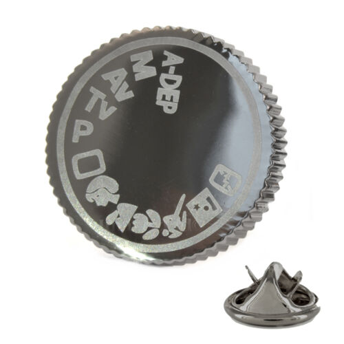 Camera Setting Dial Metal Pin Badge photographer dslr canon instagram AJTP222