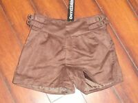 Womens Santafe Coffee Shop Deep Brown Silky Lined Shorts Size 0, 2, 4, 6, 10