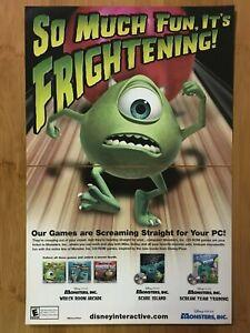 Disney-Pixar-Monsters-Inc-PC-2000-Vintage-Poster-Ad-Print-Art-Official-Promo