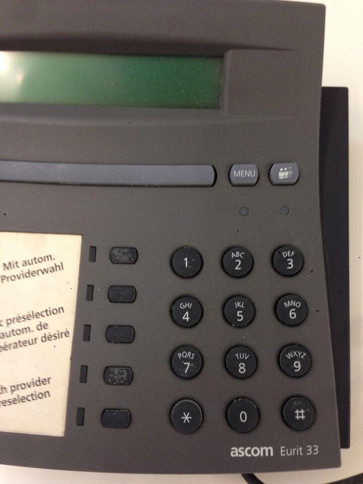Bordtelefon, Ascom Eurit 33, God