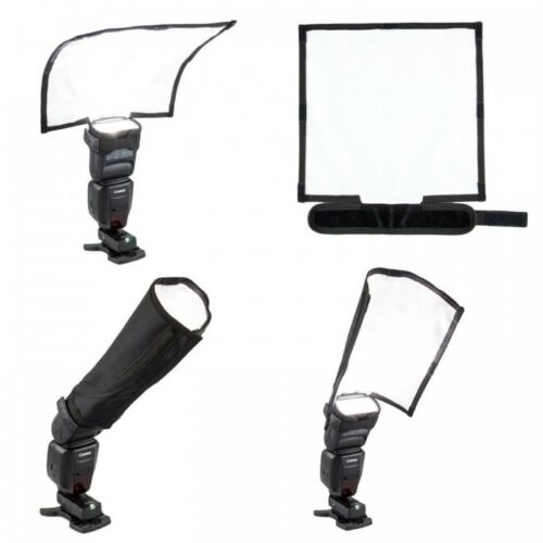 25cm x 28cm Foldable Flash Reflector Snoot Diffuser Softbox Universal UK Seller