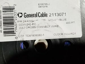 General-Cable-2113071-24-1P-General-Purpose-Cross-Connect-Wire-Blue-Violet-400ft