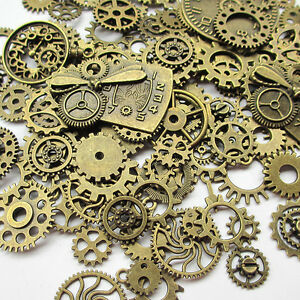100-Grams-Approx-70pcs-Steampunk-Gears-Charms-Clock-Watch-Wheel-Gear-for-Craft