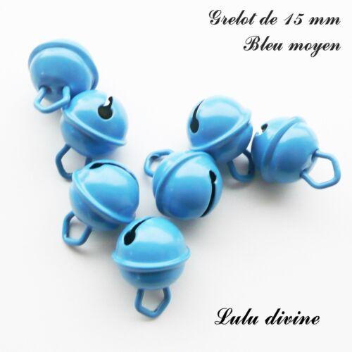 clochette de 15 mm Bleu moyen Grelot de 15 mm